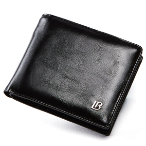Genuine Leather Wallet Men New Brand Purses for men Black Brown Bifold Wallet Zipper Coin Purse Wallets With Gift Box(China)