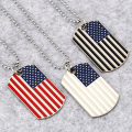 NYUKI New America Flag Necklace Three Color Military License Charm Pendant Necklace Dog Tag Fashion Jewelry For Men Women Gifts