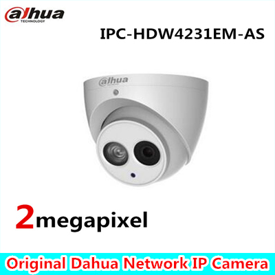 Dahua Built-in Mic 2mp Starlight IR Eyeball Network Camera NO LGO IPC-HDW4231EM-AS,free DHL shipping