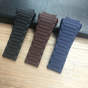 MERJUST 33mm Soft Silicone Rubber Watchband PU Belt For Porsche Strap Design Blue Black Brown Watch Band 6620 Bracelet