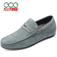 Aumentar sapatos casuais em 6 cm Moer arenoso verdadeiros sapatos de couro dos homens Aumentou em sapatos doug