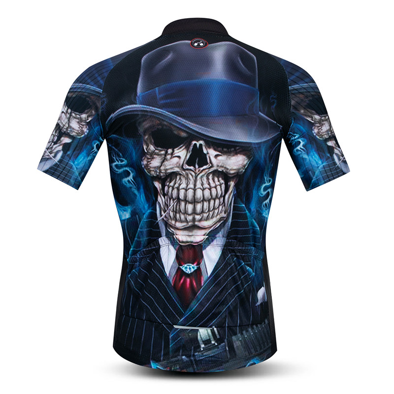 Weimostar 3D Skull Cycling Jersey Men Summer Short Sleeve Mountain Bike Clothing Maillot Ciclismo Quick Dry MTB Bicycle Jersey in Cycling Jerseys from Sports Entertainment