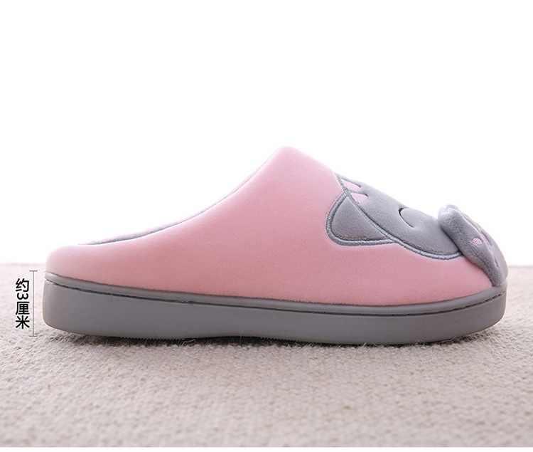 Kadınlar Kış Ev Terlik Karikatür Kedi Ayakkabı kaymaz Yumuşak Kış sıcak ev terlikleri Kapalı Yatak Odası Severler Çiftler Zemin Ayakkabı