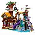 BELA 10497 Aventura Campamento Árbol Casa emma amigos Niñas princesa/Compatible con juguetes Amigos heartlake 41122