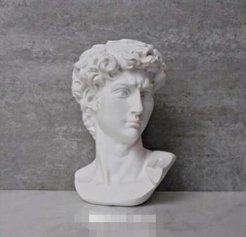 David Head Portraits Bust Mini Gypsum Statue Michelangelo Buonarroti Home Decoration Resin Art&Craft Sketch Practice 1
