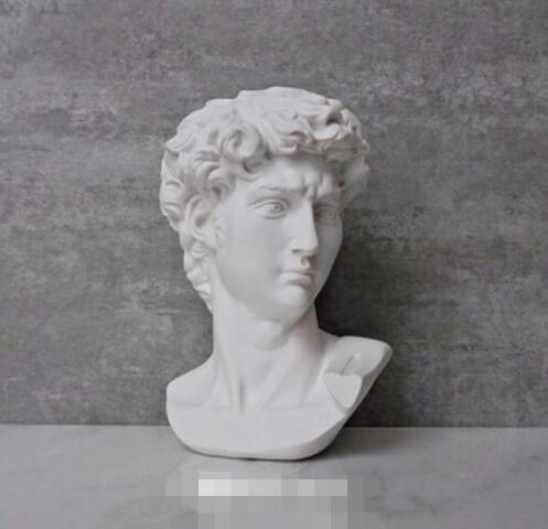 David Head Portraits Bust Mini Gypsum Statue Michelangelo Buonarroti Home Decoration Resin Art&Craft Sketch Practice|Statues & Sculptures| |  - title=