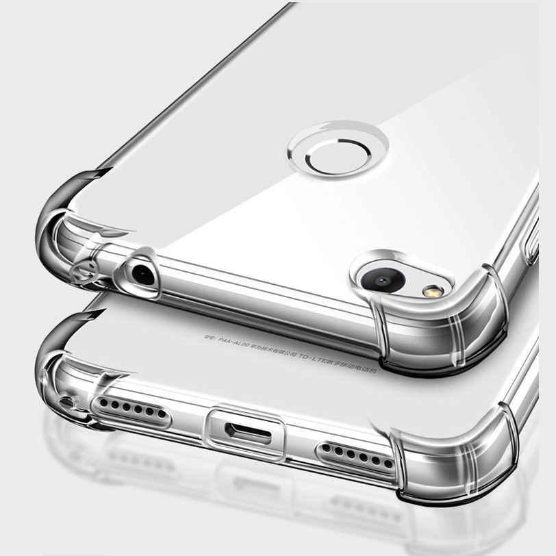 Clear Anti-knock TPU Case for Huawei Honor V9 5C 5X 6A 6X 8 Lite Nova 2 Plus P10 P9 Lite 2017 Mate 10 9 Y3 Y5 2017 Back Cover