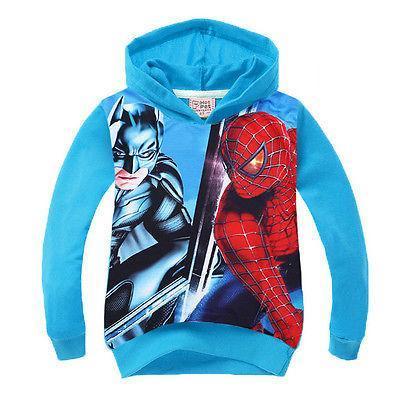 2017 New Design Spiderman Kids Boys font b Hoodies b font Sweatshirts autumn spring Childrens Clothing