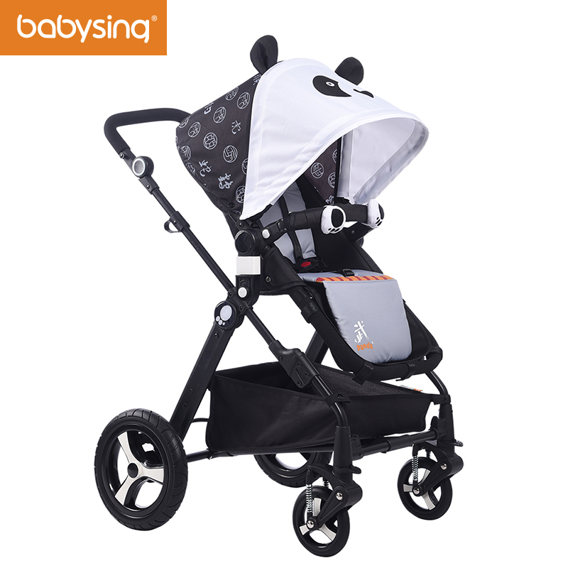 Babysing High Landscape Baby Stroller Cute Ceiling Four Wheels Pram and Pushchair Portable Folding Strollers impbaby i2 newborn strollers high lightweight pram dropshipping wholesale portable baby top stroller carriage strollers fashion pushchair