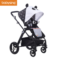 Babysing High Landscape Baby Stroller Cute Ceiling Four Wheels Pram and Pushchair Portable Folding Strollers impbaby