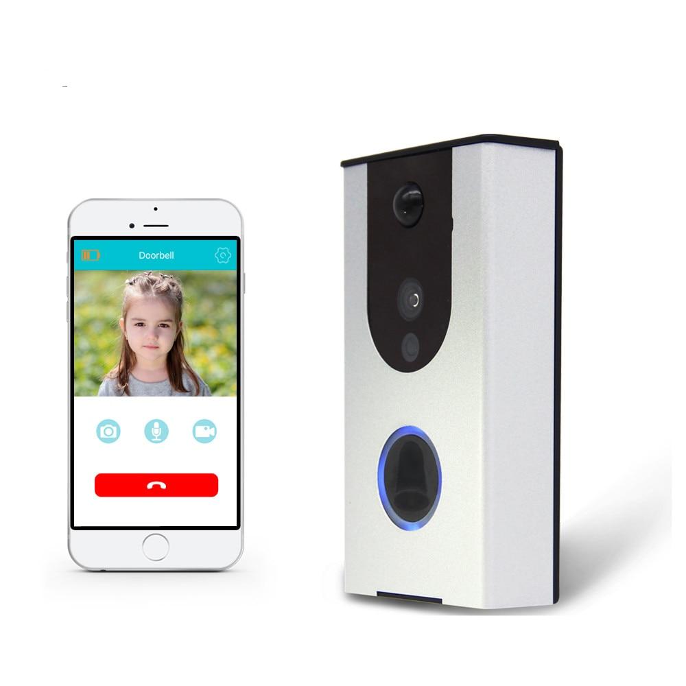 Smart door intercom HD Video Doorbell WiFi Doorbell with Camera Night Version IR Motion Detection Alarm for IOS / Android smart home hd video doorbell camera wifi