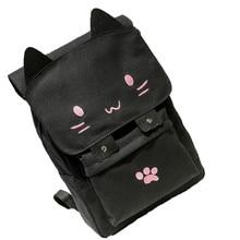 Горячая Распродажа 2017 года на милый кот Холст мультфильм рюкзаки для девочек школьная сумка Повседневная печать рюкзак Оптовая A2000