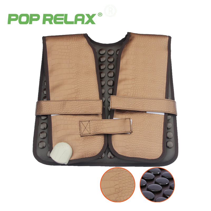 POP RELAX healthy electric heating therapy cervical belt tourmaline products physiotherapy device mat shoulder back massage belt pop relax health products electric prostate massage for men handhend infrared heating therapy device 3 balls jade stone massager
