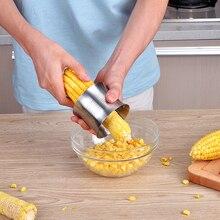 Corn Stripping Slicer, 304 Stainless Steel Serrated Blade Ergonomic Non-Slip Grip Design Stripper