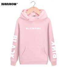 XUANSHOW 2019 BLACKPINK Kpop Hoodies Lange Mouwen Brief Gedrukt Hoody Sweatshirts Casual Fleece Truien Mujer XXL(China)
