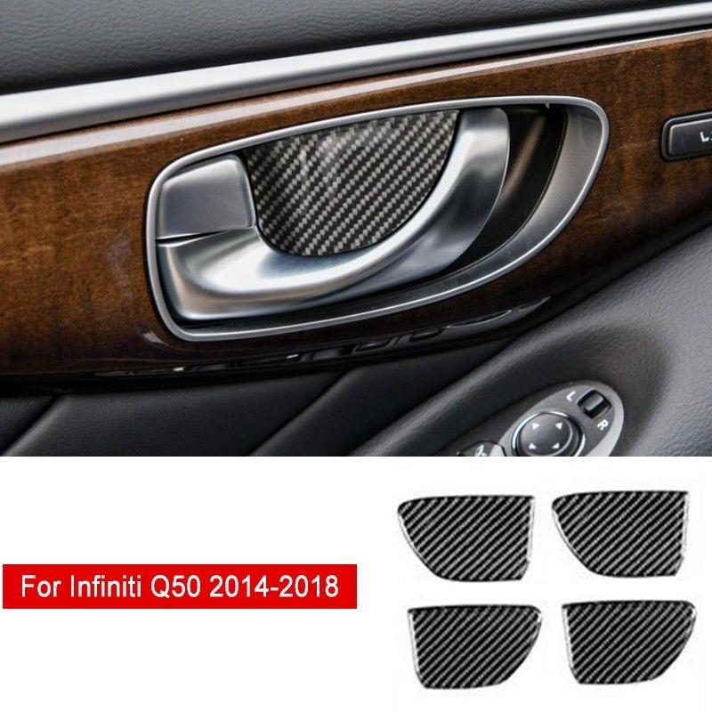 4*interior inner door handle bowl cover decoration trim for Infiniti Q50 QX60