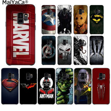 Maiyaca marvel superman veneno escudo spiderman logo caso de telefone para samsung s9 s9 mais s5 s6 s6edge s6plus s7 s7edge s8 mais(China)