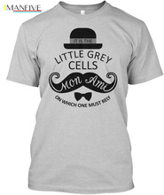 цены на Agatha Christie Hercule Poirot - It Is The Little Grey Popular Tagless Tee T-Shirt Streetwear harajuku Print  funny t shirts men  в интернет-магазинах