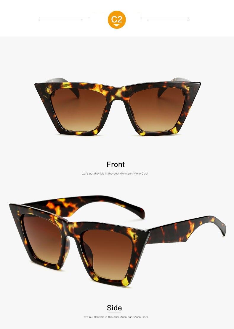 HTB1N5Mcl nI8KJjSszbq6z4KFXaT - AFOFOO Fashion Women Sunglasses Cat Eye Glasses Lady Brand Designer Retro Sun glasses UV400 Shades Eyewear Oculos de sol