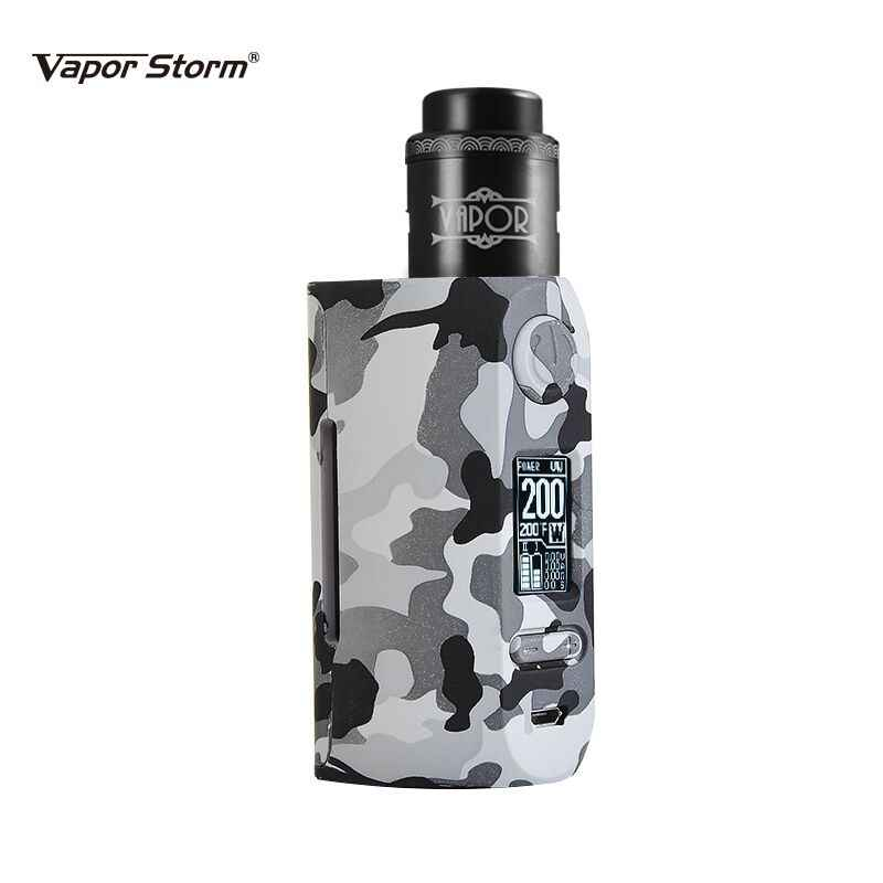 Vapor Storm Storm230 Bypass 200W VW TCR Mod Temperature Control Lion RDA Hawk Tank Box Mod Vape Electronic Cigarette Fashion
