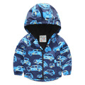 Kids Windbreaker Clothes Children Jackets For Boys Spring Autumn Hooded Printed Car Baby Boys Outerwear & Coats 2-7 Years