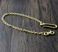 """18"""" Solid Brass Biker Trucker Wallet Chain Jean Keychain With Fob And Hook YL-72"""