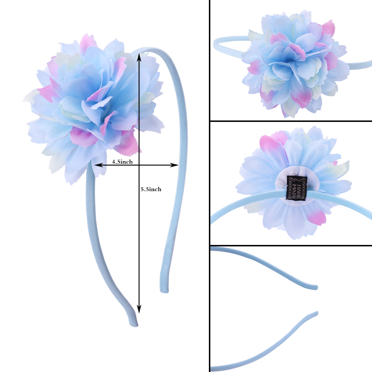 Fashion Girl Hair Beautiful Flowers Headband Boutique Printed Handmade Ribbon Hairbands Children Hair Accessories in Women 39 s Hair Accessories from Apparel Accessories