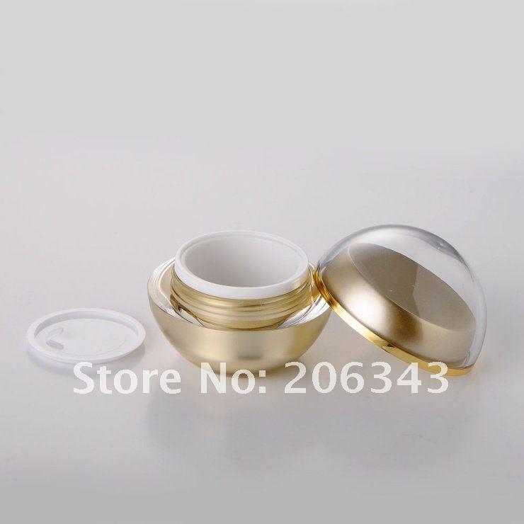 30G arany golyó alakú akril krémedény, kozmetikai - Bőrápolási eszközök