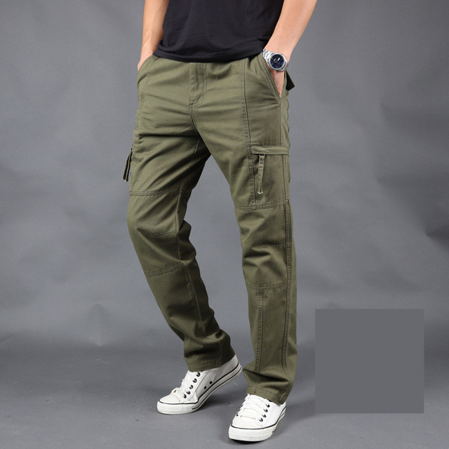 pants mens Loose army tactical pants Multi-pocket trousers homme Size M-4XL Male Military Overalls