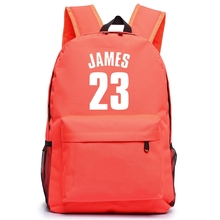 New Arrival James Canvas Bag Backpack Teenagers Basket Ball Backpacks Men Women RuckSack Boys Girls School Bag For Student цена 2017