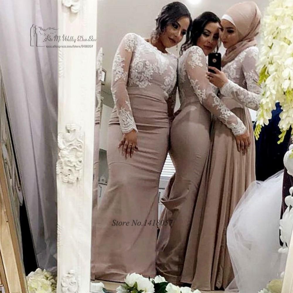 Muslim bridesmaid dresses good dresses cheap long sleeve muslim bridesmaid dresses mermaid wedding party dress lace 2017 robe demoiselle d ombrellifo Image collections