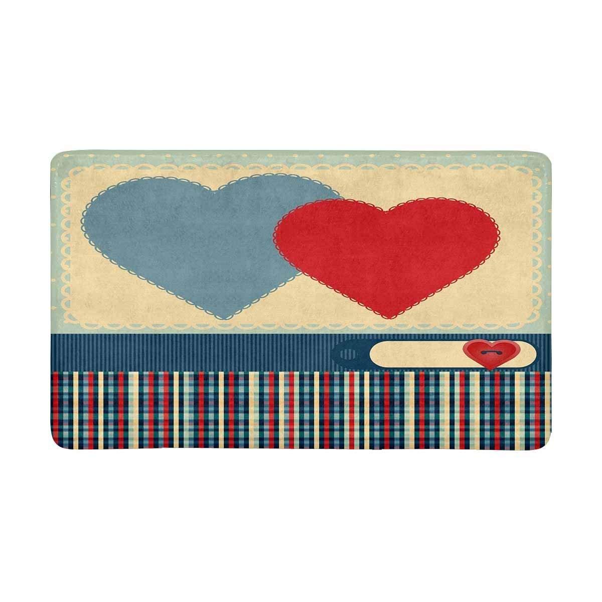 Design Art Print Deco For Valentine S Day Indoor Doormat