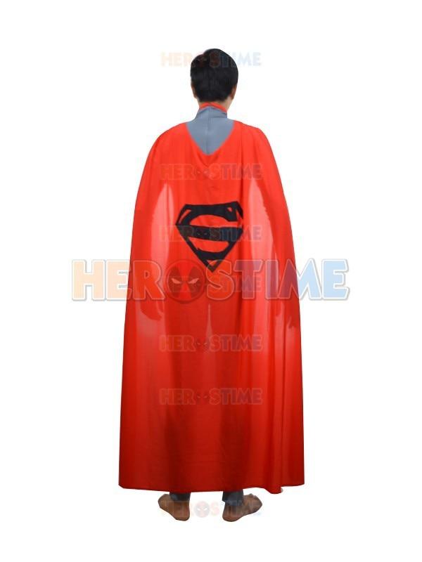 Gray & Red New Style Superman Kostüm Fullbody Spandex Superman - Kostüme - Foto 3