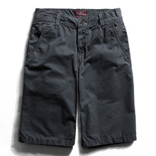2017 Cotton Men Knickers Mens Cargo Panties Casual Trousers Beach Shorts Pocket Design Summer Male Street Style Short YN10049