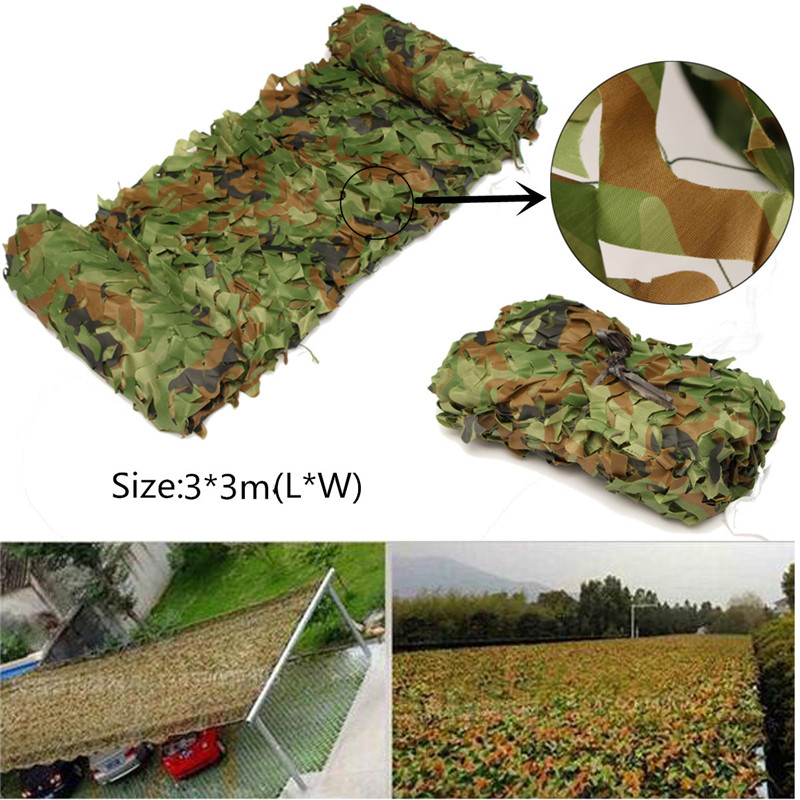 Hot Sale 300 x 300cm Square Outdoor Hunting Military Camouflage Jungle Net Woodlands Camo Blind Starp Tent Hunting Accessories