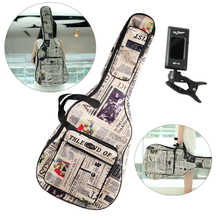 41'' Acoustic Guitar Gig Bag 600D Water Proof Nylon Oxford Cloth Padded Backpack Guitar Carrying Case With Digital Guitar Tuner yibuy black 36 inch nylon water resistant gig guitar bag backpack