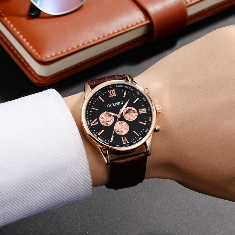 New Chronograph Sports Watch Gold Luxury Watches For Men Top Brand army Military Wristwatch Relogio masculino quartz-watch didun watch mens top brand luxury quartz watch men military chronograph sports watch shockproof 30m waterproof wristwatch