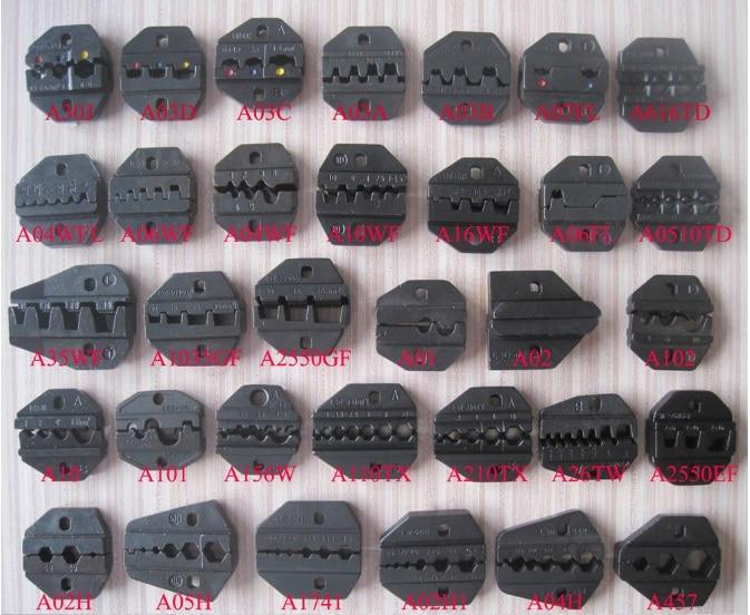 A02h1 Sterben Sets Für Hs-02h1 Fse-02h1 Am-10 Em-6b1 Em-6b2 Crimping Piler Crimpmaschine Ein Satz Handwerkzeuge Werkzeuge