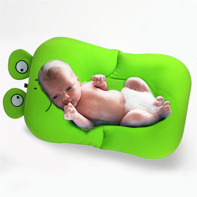 Online Shop Frog Shape Foldable Baby bathtub Bathing Cushion ...