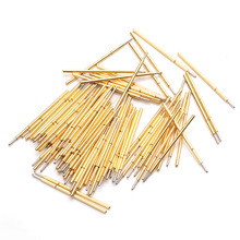 100pcs Voltage Test Probe Spring Phosphor Bronze Tube Gold Plated Length 15mm For Testing Circuit Board Instrument P058-F p048 j 100 pcs pack spring test probe phosphor bronze tube gold plated electrical instrument tool for testing circuit board