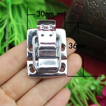 Wholesale Bulk Beauty Case,Box Clasp Buckle,Chrome Metal From Wooden Hasp Lock Child Obscura,Cosmetic Box Lock,30*36mm,100Sets