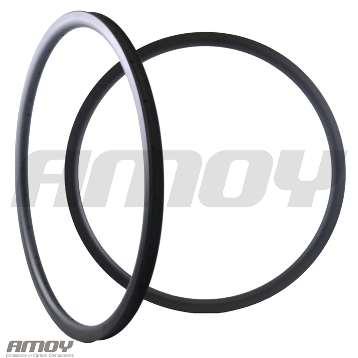 29er MTB XC 30mm carbon rim clincher tubeless 35mm deep UD 3K 12K matte glossy 24H 28H 32H 29in mountain wheelRims   -