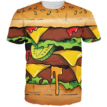 New Men Women Summer Fashion t-shirts Delicious Hamburger/French Fries Prints tshirts 3D Swag t shirt Street Hip Hop Tees Tops