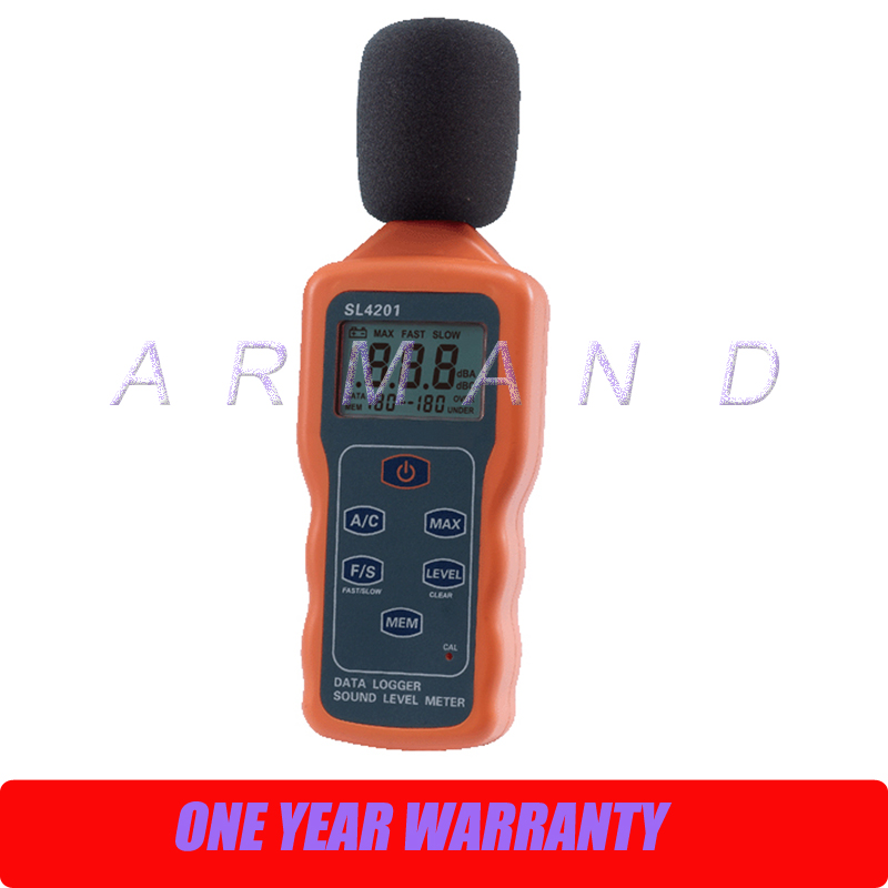 Sound Level Meter 30-130dB SL4201 Digital Noise Tester USB interface Data storage sound level meter sk1358