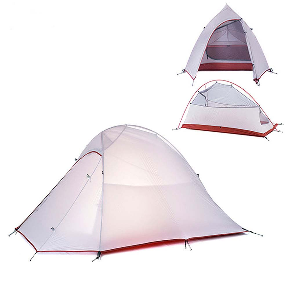 NH15T002 - T 20D 380T Silicone Double Layer Waterp Resistant Camping Hiking Tent Tool for 2 Persons high quality outdoor 2 person camping tent double layer aluminum rod ultralight tent with snow skirt oneroad windsnow 2 plus