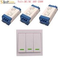 Sleeplion DC/AC 16V 250V Wireless Wall Remote Control Switch 85V 110V 220V LED light Lamp Fan Wide Voltage Switches