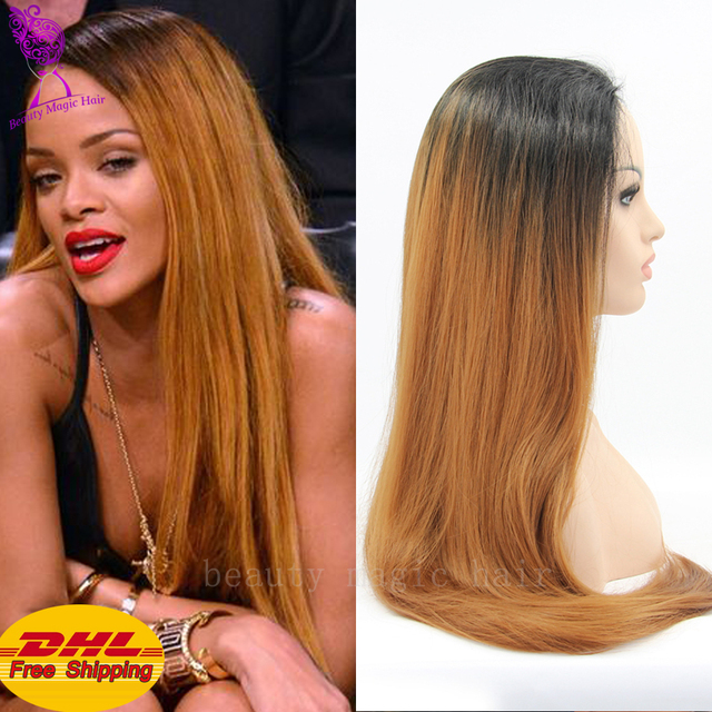 Superb Cheap Good Quality Blonde Ombre Wig Heat Resistant Synthetic Lace Hairstyles For Women Draintrainus