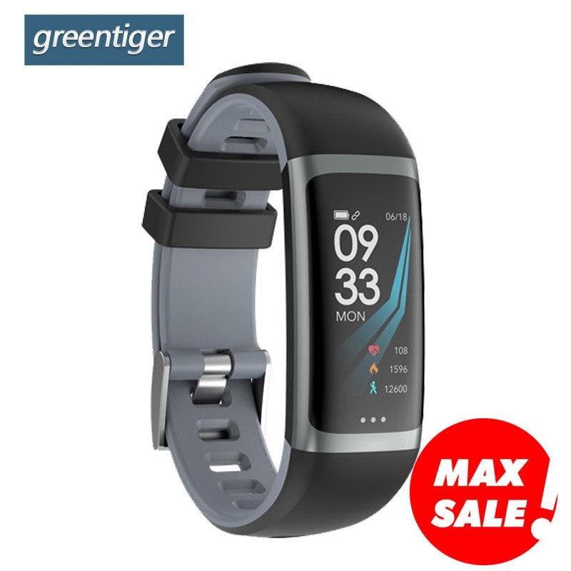 Greentiger G26 Smart Bracelet P67 Waterproof Heart Rate Blood Pressure Oxygen Fitness Bracelet Multi Sport Mode Smart Wristband