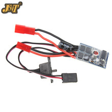 Controlador jmt RC Car No Brake 10A Brushed ESC controlador de velocidad de Motor de dos vías para 1/16 1/18 1/24 RC Car Boat tanque(China)