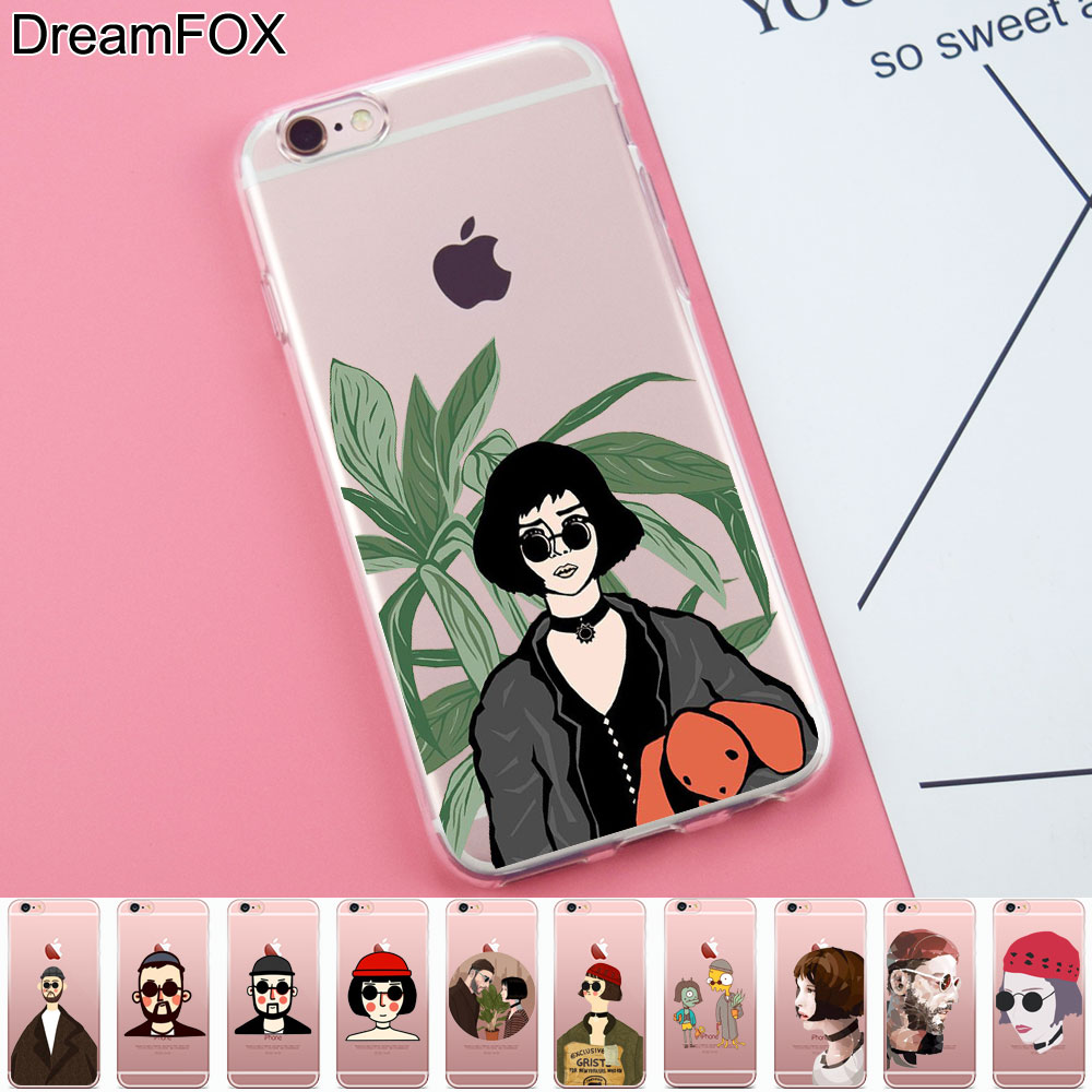 L294 Leon Matilda Natalie Portman Soft TPU Silicone Case Cover For Apple iPhone X 8 7 6 6S Plus 5 5S SE 5C 4 4S